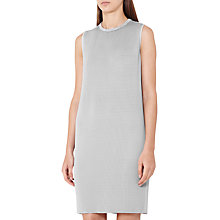 Buy Reiss Beya Pleated Shift Dress, Glacier Online at johnlewis.com