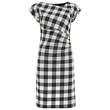Buy Phase Eight Jadyn Check Dress, Navy/Ivory Online at johnlewis.com