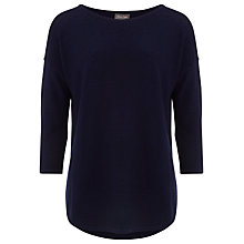 Buy Phase Eight Megg Curve Hem Jumper, Navy Online at johnlewis.com