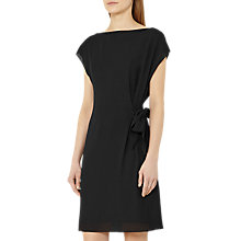 Buy Reiss Misty Tie Waist Dress, Black Online at johnlewis.com