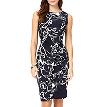 Buy Phase Eight Clara-Mae Printed Dress, Navy/Ivory Online at johnlewis.com
