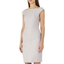 Buy Reiss Virginia Tailored Dress, Pink Grey Online at johnlewis.com