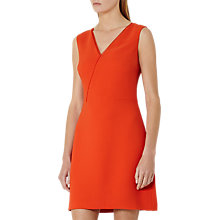 Buy Reiss Gianna A-Line Trim Detail Dress, Flame Online at johnlewis.com