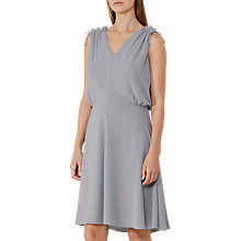 Buy Reiss Stellie Ruffle Shoulder Dress Online at johnlewis.com