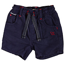Buy Angel & Rocket Baby Twill Shorts, Navy Online at johnlewis.com