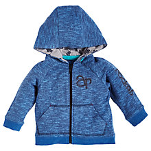 Buy Angel & Rocket Baby Slub Hoodie, Indigo Online at johnlewis.com