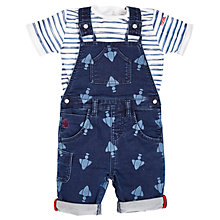 Buy Angel & Rocket Baby Denim Dungaree and T-Shirt Set, Blue Online at johnlewis.com