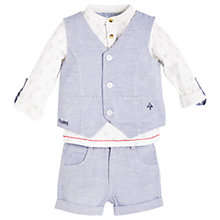 Buy Angel & Rocket Baby Shirt and Short Set, Blue Online at johnlewis.com