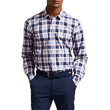 Buy Thomas Pink Parry Check Slim Fit Shirt, Navy/Blue Online at johnlewis.com