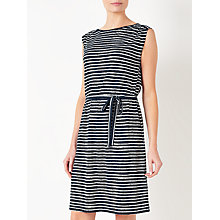 Buy Collection WEEKEND by John Lewis Hand Drawn Stripe Dress, Navy/White Online at johnlewis.com