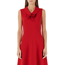 Buy Marc Cain Sleeveless Flared Dress, Red Online at johnlewis.com