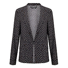 Buy Maison Scotch Printed Drapey Blazer, Black Online at johnlewis.com