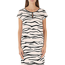 Buy Marc Cain Tiger Print Dress, Cream/Black Online at johnlewis.com