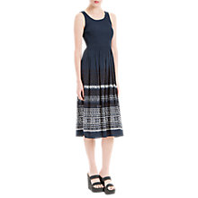 Buy Max Studio Sleeveless Embroidered Dress, Navy Online at johnlewis.com