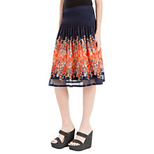 Buy Max Studio Smocked Printed Skirt, Navy Online at johnlewis.com