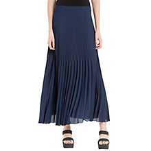 Buy Max Studio Pleated Georgette Maxi Skirt, Navy Online at johnlewis.com