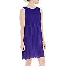 Buy Max Studio Sleeveless Pleated Dress, Purple Online at johnlewis.com
