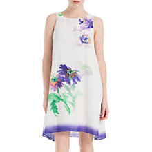Buy Max Studio Sleeveless Printed Dress, White Online at johnlewis.com
