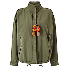 Buy Maison Scotch Army Jacket, Green Online at johnlewis.com