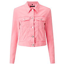 Buy J Brand Harlow Denim Jacket, Guava Online at johnlewis.com