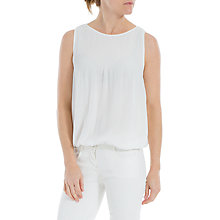 Buy Max Studio Sleeveless Pleated Top, White Online at johnlewis.com