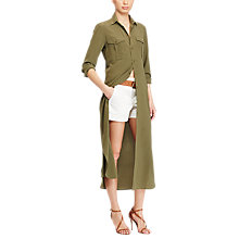 Buy Polo Ralph Lauren Silk Crepe Shirt Dress, New Olive Online at johnlewis.com