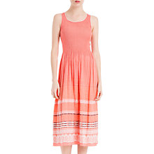 Buy Max Studio Sleeveless Embroidered Dress, Coral Online at johnlewis.com