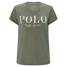 Buy Polo Ralph Lauren Cotton Jersey T-Shirt, Basic Olive Online at johnlewis.com