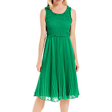 Buy Max Studio Sleevless Ruched Dress, Green Online at johnlewis.com