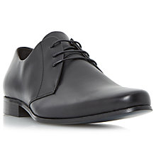 Buy Bertie Police Leather Derby Shoes, Black Online at johnlewis.com