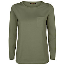 Buy Jaeger Long Sleeve Jersey T-Shirt, Khaki Online at johnlewis.com