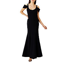 Buy Coast Abriella Structured Maxi Dress, Black Online at johnlewis.com