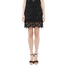 Buy Ted Baker Beay Lace Mini Skirt, Black Online at johnlewis.com