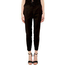 Buy Ted Baker Tiornat Ottoman Detail Suit Trousers, Black Online at johnlewis.com