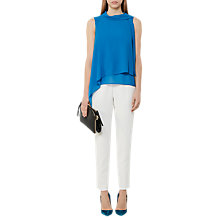 Buy Reiss Trine Layered Tank Top, Bright Blue Online at johnlewis.com