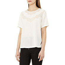 Buy Reiss Hartley Silk Scallop Detail Top Online at johnlewis.com