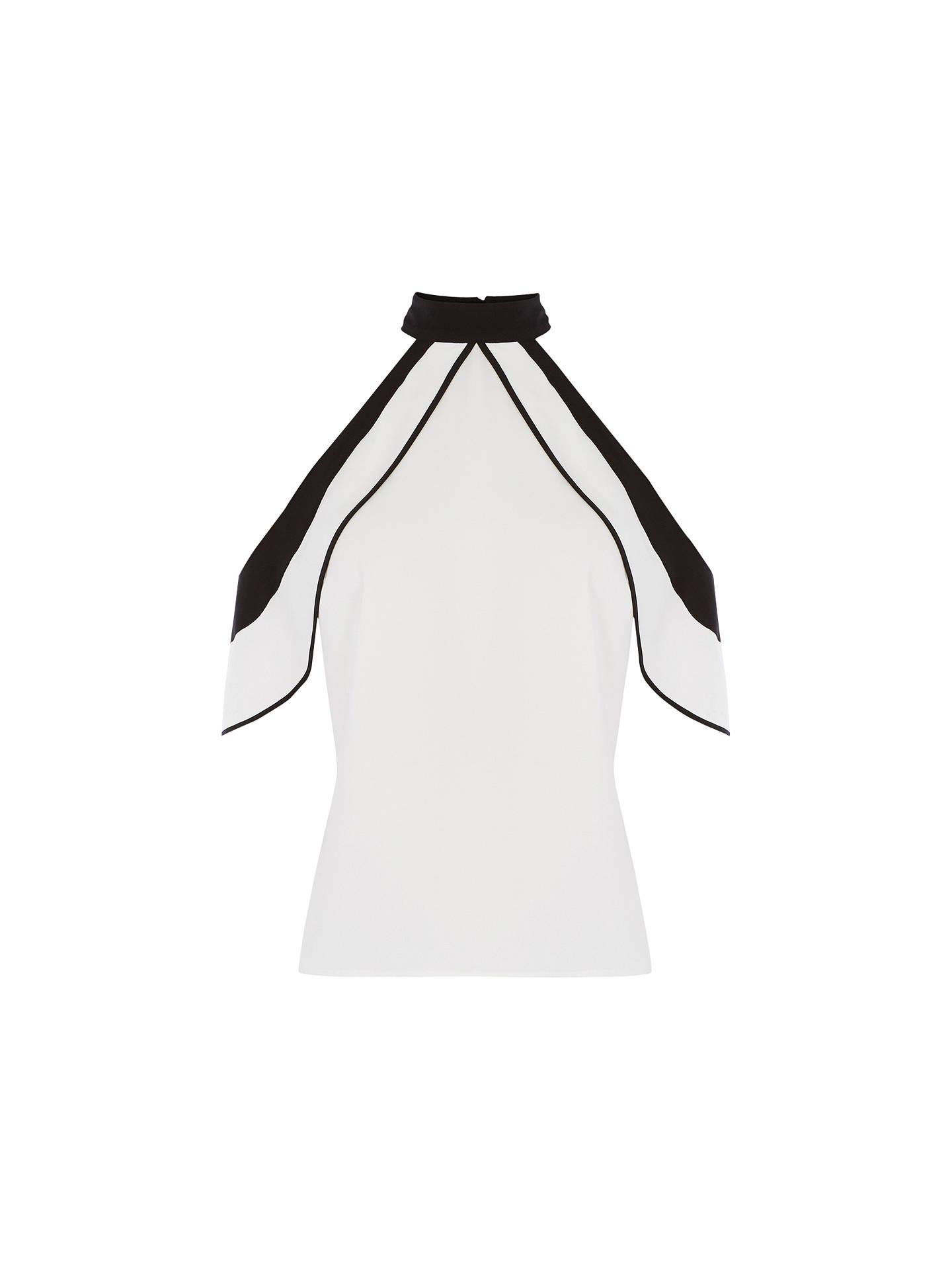 17338005d33 Buy Coast Faye Cold Shoulder Top, Ivory, 6 Online at johnlewis.com ...