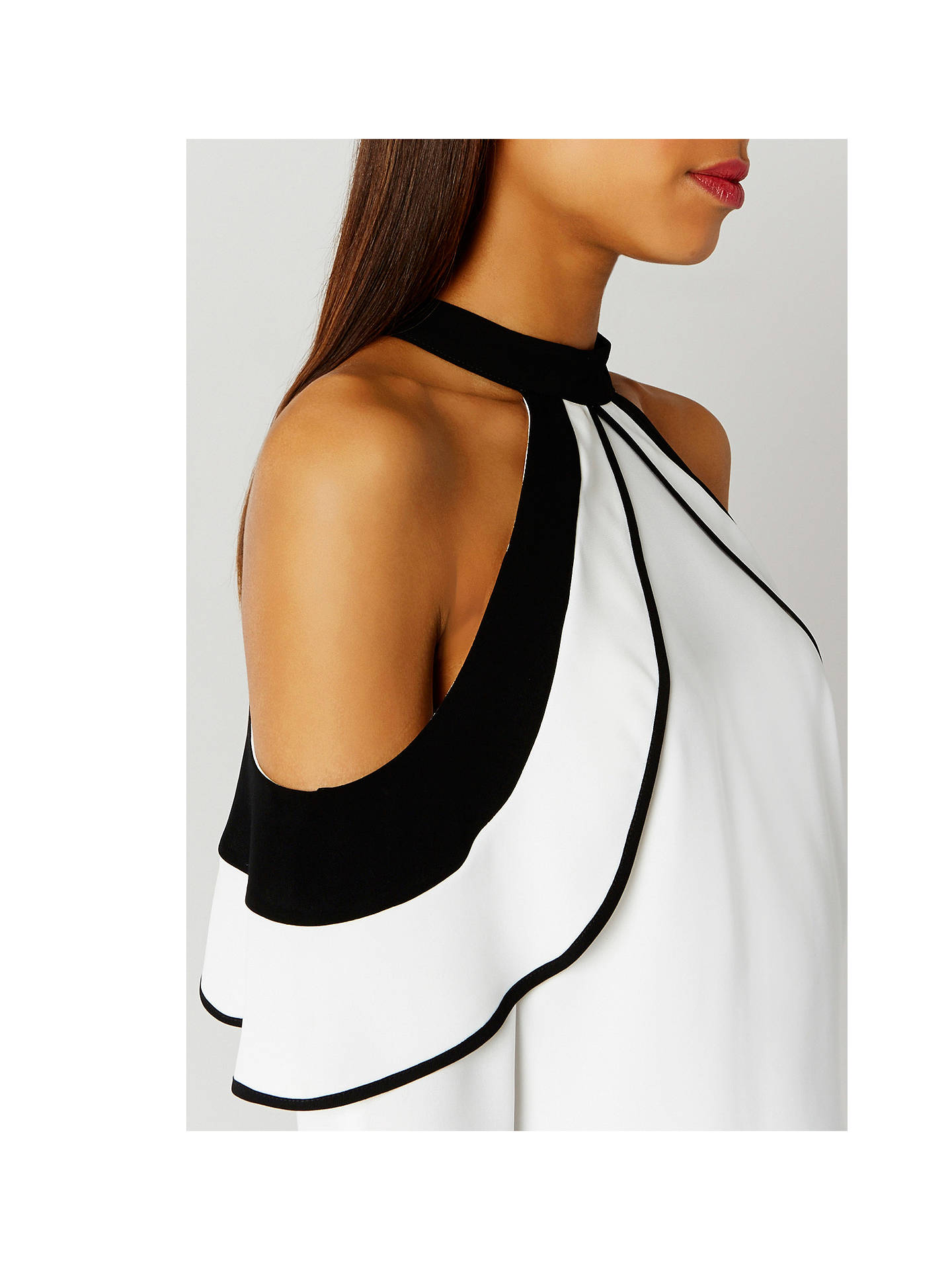 b9ec93cb2d2 ... Buy Coast Faye Cold Shoulder Top, Ivory, 6 Online at johnlewis.com