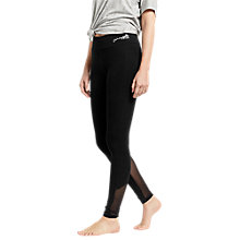 Buy Oasis Mesh Insert Leggings, Black Online at johnlewis.com