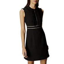 Buy Karen Millen Pleat Trim Dress, Black Online at johnlewis.com