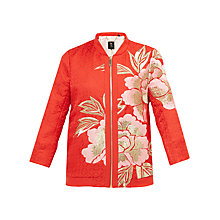 Buy Ted Baker Herrne Regal Romance Bomber Jacket, Burnt Orange Online at johnlewis.com