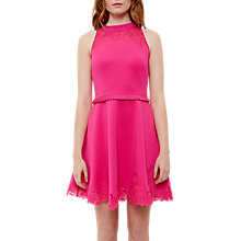Buy Ted Baker Zaffron Embroidered Ruffle Skater Dress Online at johnlewis.com