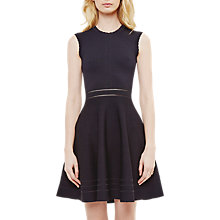 Buy Ted Baker Carilyn Scallop Detail Dress, Dark Blue Online at johnlewis.com