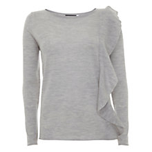 Buy Mint Velvet Wool Ruffle Knit, Grey Online at johnlewis.com