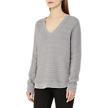 Buy Reiss Annoush Tonal Textured Jumper, Mist Online at johnlewis.com