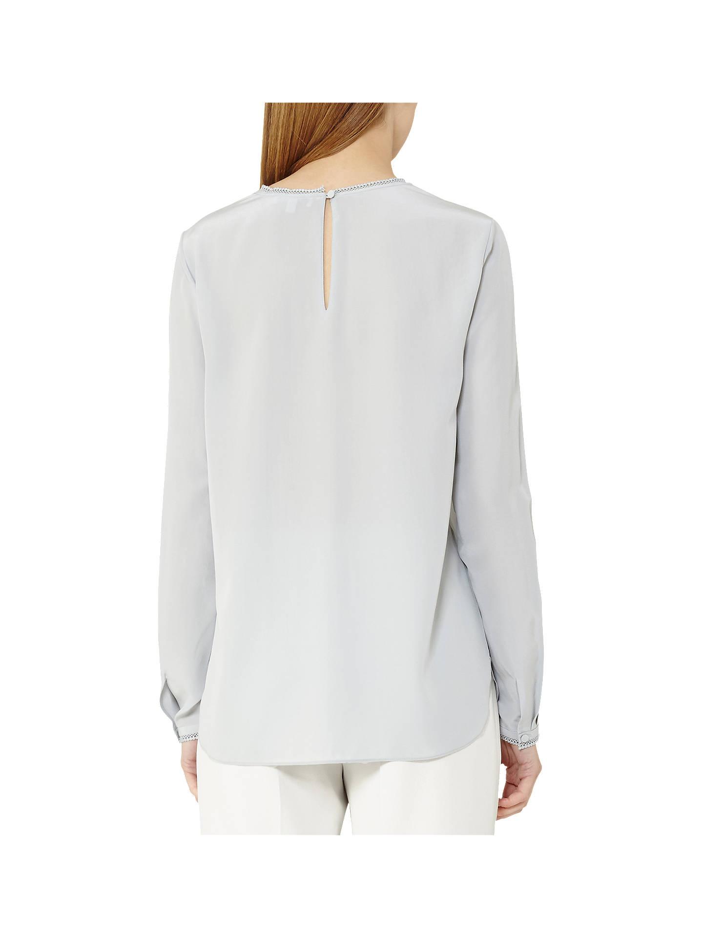 45f62ec307698 Buy Reiss Juna Lace Trim Silk Blouse