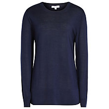 Buy Reiss Clover Merino Crew Neck Jumper, Navy Online at johnlewis.com