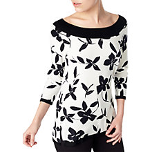 Buy Precis Petite Martina Printed Jumper, White/Multi Online at johnlewis.com