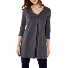 Buy White Stuff Lolly Tuck Front Jersey Tunic, Dusty Charcoal Online at johnlewis.com