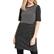 Buy Oasis Tweed Patched Shift Dress, Grey Online at johnlewis.com